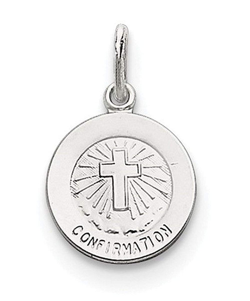 Sterling Silver Confirmation Medal (14X12MM)