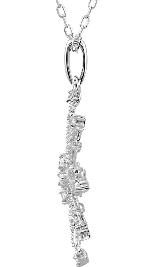The Men's Jewelry Store (for HER) CZ Snowflake Sterling Silver Necklace, 18""