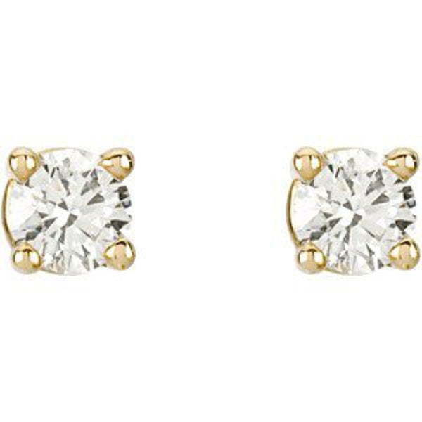 1/5 Ct 14k Yellow Gold Diamond Stud Earrings (.20 Cttw, GH Color, SI1 Clarity)