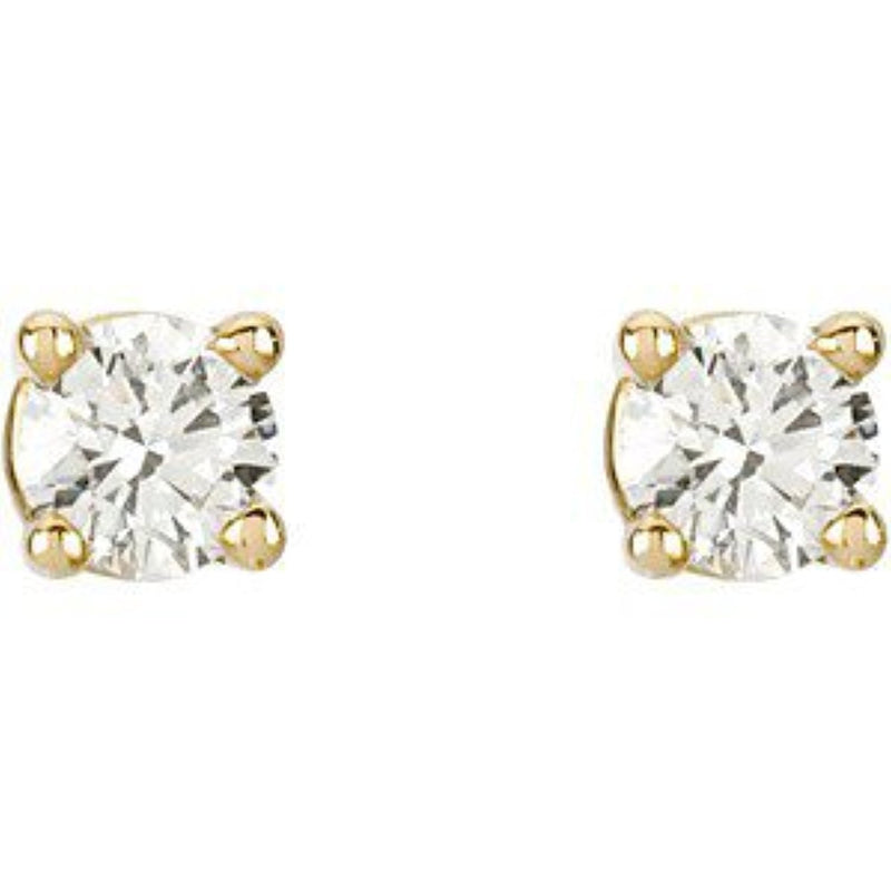 1/4 Ct 14k Yellow Gold Diamond Stud Earrings (.25 Cttw, GH Color, SI1 Clarity)