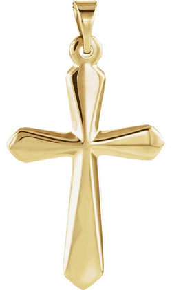 Sword of Spirit Cross 14k Yellow Gold Pendant (22.50X16.00 MM)