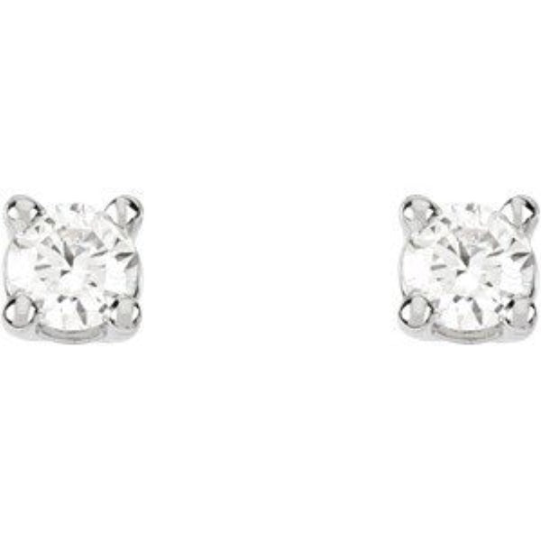1/4 Ct 14k White Gold Diamond Stud Earrings (.25 Cttw, GH Color, SI1 Clarity)