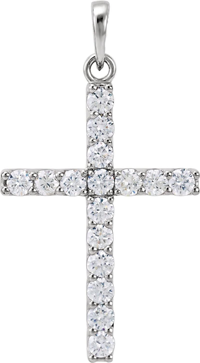 Platinum Diamond Cross Pendant (0.75 Ctw, Color GH, Clarity I1)