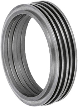 Modern Stack Rings 1mm Comfort Fit Brushed Titanium Band, Size 5.75