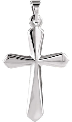 Sword of Spirit Cross Rhodium-Plated 14k White Gold Pendant (22.50X16.00 MM)