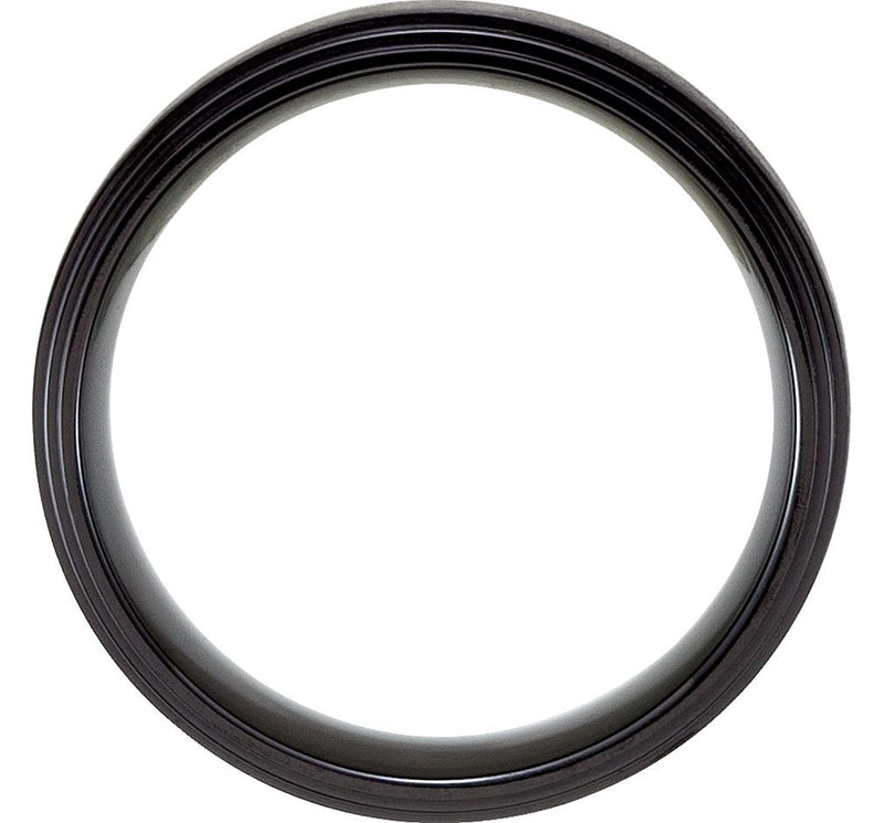Black Titanium 8mm Matte Center Comfort Fit Band