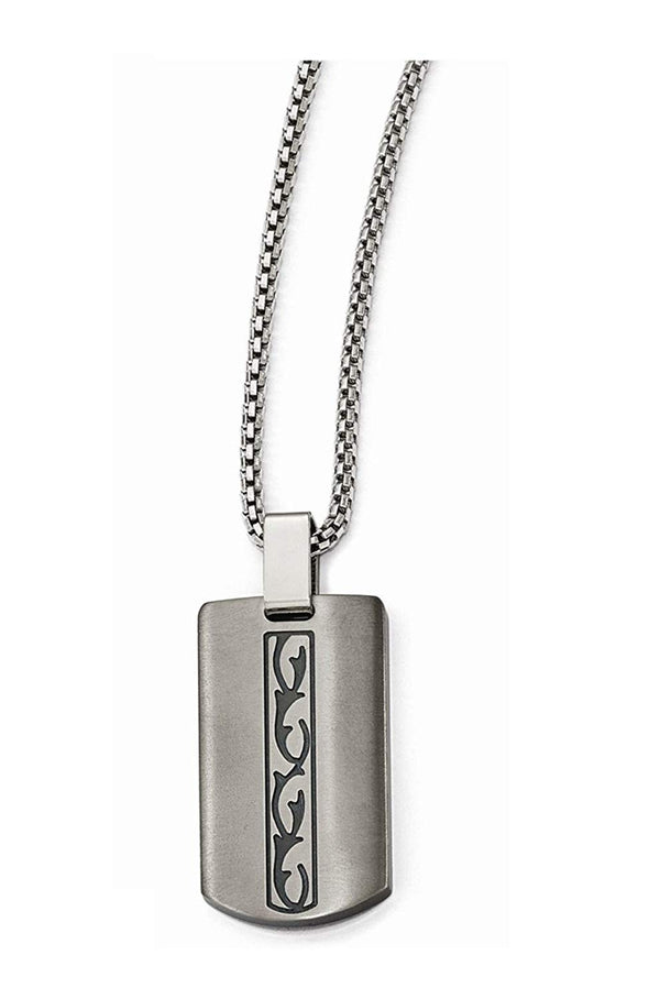 Edward Mirell Black Titanium Pendant Necklace, 20""
