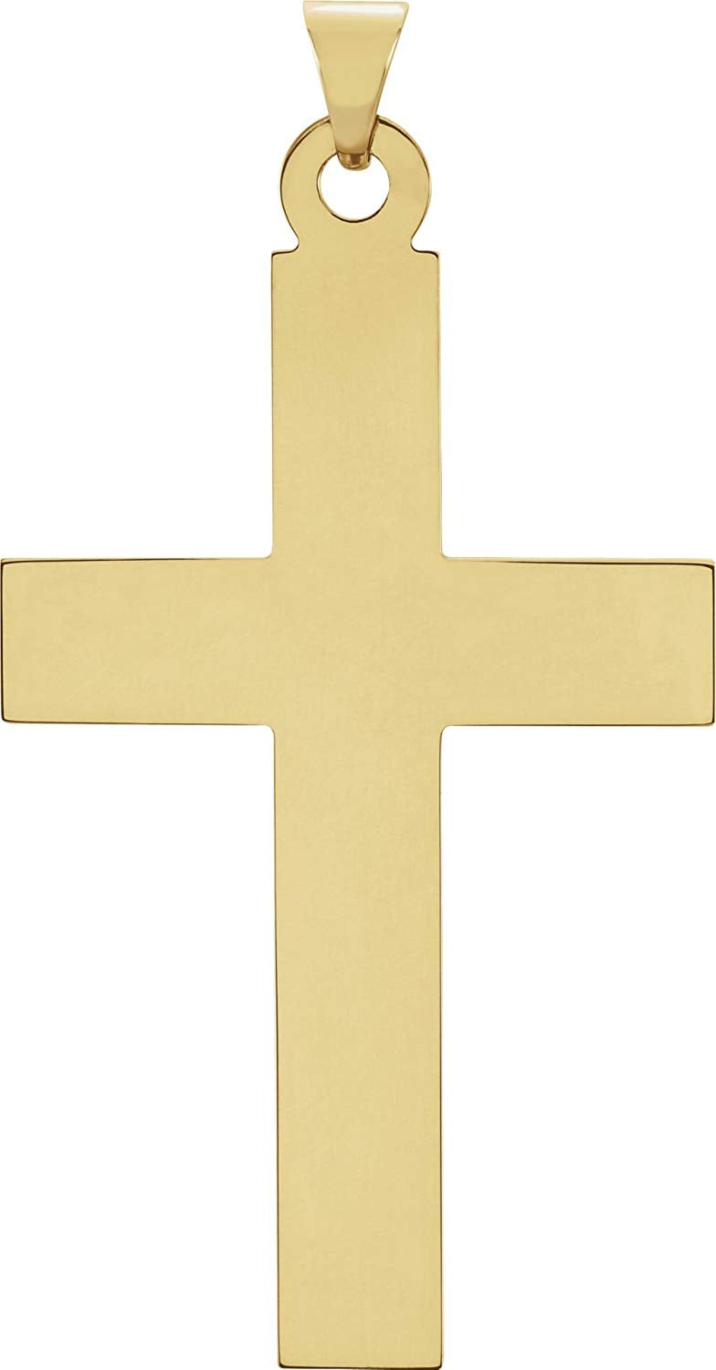 Latin Cross 14k Yellow Gold Pendant(31X18MM)