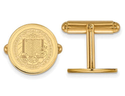 Gold-Plated Sterling Silver University Of California Berkeley Crest Round Cuff Links, 16MM