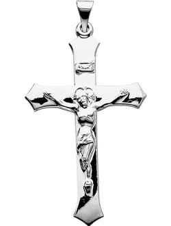 Passion Crucifix Rhodium-Plated 14k White Gold Pendant (39X25.5MM)