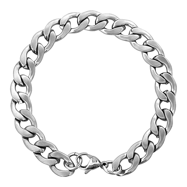 Men's Stainless Steel Curb Bracelet, 8.5""