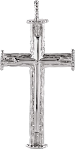 Rugged Capital Cross 14k White Gold Pendant