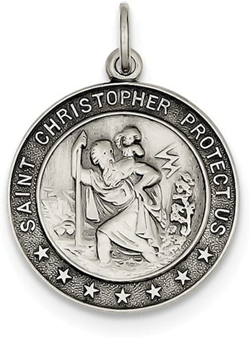 Sterling Silver St. Christopher Medal (31X21MM)