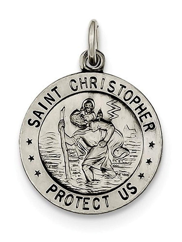 Sterling Silver St. Christopher Medal (25X20 MM)