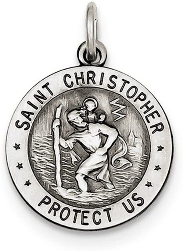 Sterling Silver St. Christopher US Air Force Medal (25x20MM)