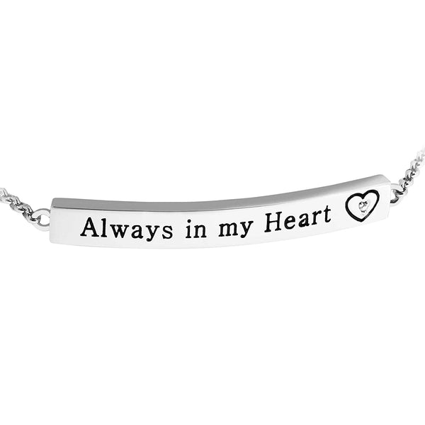 Diamond 'Always in My Heart' Pendant Necklace, Rhodium Plated Sterling Silver, 18""