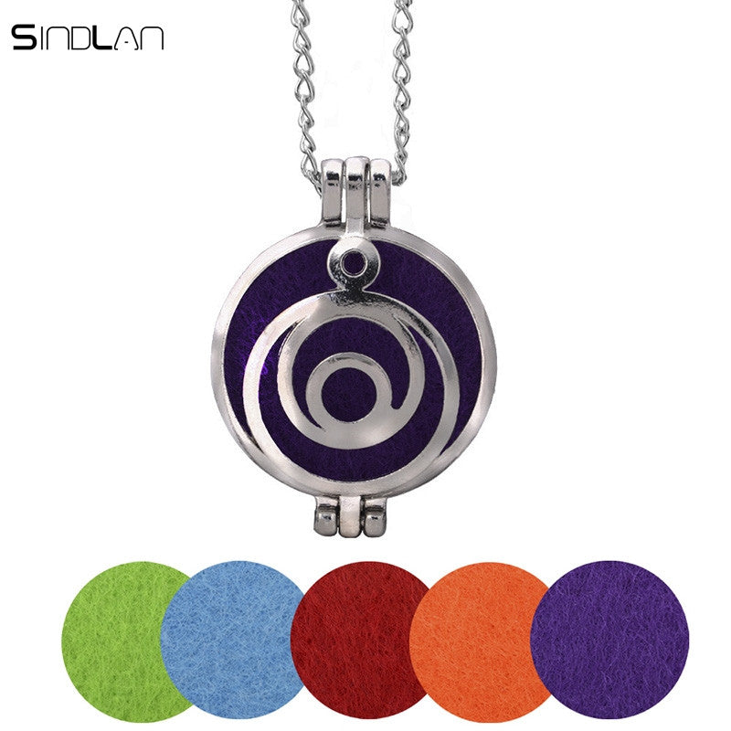 Circle Aromatherapy Pendant Necklace
