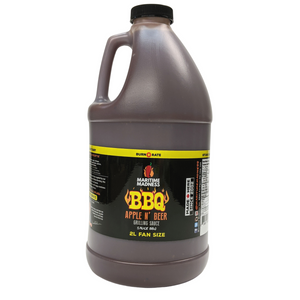 2L Fan Size Apple N' Beer BBQ Sauce