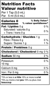 FireCandy Candied Curry Hot Sauce nutritional label