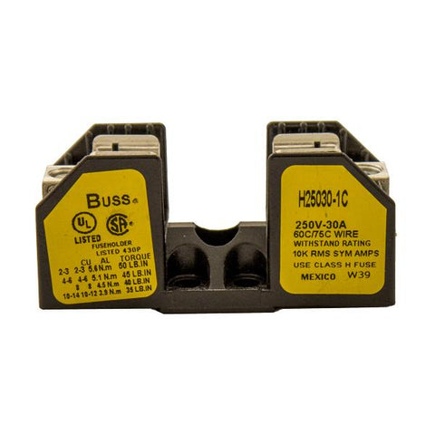 Fuse Block, H25030-1C, For Class H/R Fuses, 10-30A, 1-Pole - Solar Gear Supply