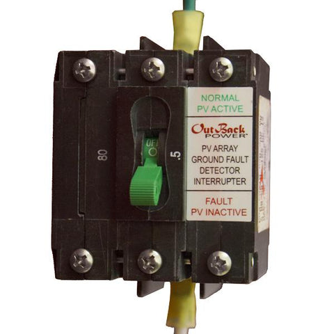 Outback PNL-GFDI-80D, DC Ground Fault Protector, 150VDC, 2 Pole, Panel Mount - Solar Gear Supply