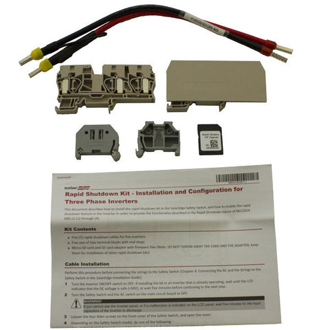 Solaredge SE1000-RSD-S2 Wire Kit Rapid Shutdown for Three Phase Inverters - Solar Gear Supply