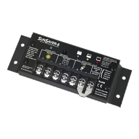 Morningstar, SS-6-12V, PWM Control, Sunsaver Charge Control 6A 12V - Solar Gear Supply