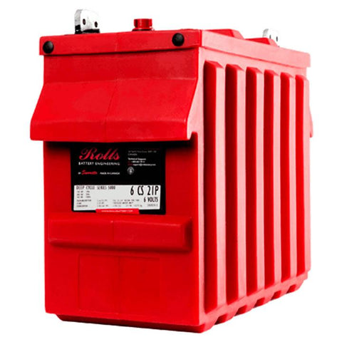 Surrette, Rolls 6‐CS‐25P, 6V, 820ah, Flooded Lead Acid Deep Cycle Battery - Solar Gear Supply