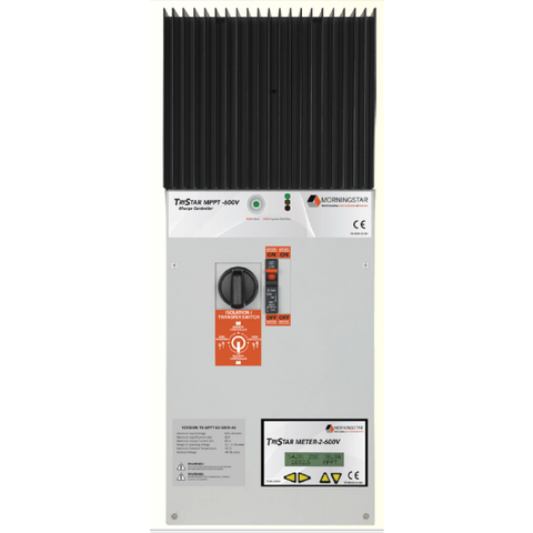 Morningstar, TS-MPPT-60-600V-48-DB, MPPT Control, Tristar HV Charge Control 60A 48V W/DC Disconnect - Solar Gear Supply