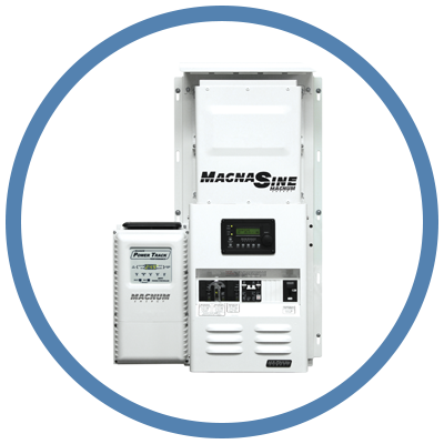 Magnum, SKO-48, Storm Kit with MS4024-PAE Inverter, PT-100 MPPT Charge Control, ARC50, BMK, MMP, Outdoorbox, 4.4kW 120/240VAC Output, 48VDC Battery, up to 5.7kW PV Array - Solar Gear Supply