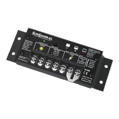 Morningstar, SS-6L-12V, PWM Control, Sunsaver Charge Control 6A 12V - Solar Gear Supply