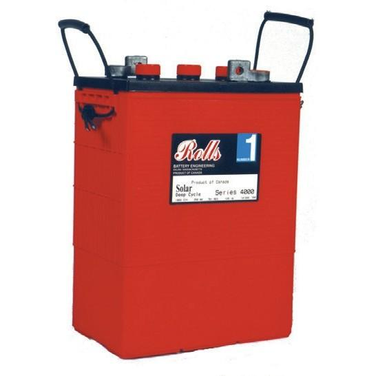 Surrette, Rolls S-480, L16, 6v, 375ah, Flooded Deep Cycle Battery - Solar Gear Supply