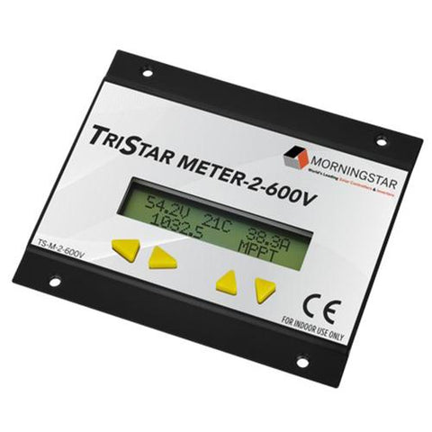 Morningstar, TS-M-2-600V, Tristar Digital Meter for 600V Tristar Controllers - Solar Gear Supply