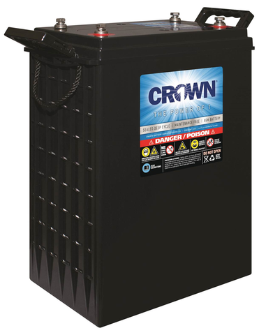 Crown 2CRV1200, L-16 AGM 2-volt Deep Cycle Battery - Solar Gear Supply