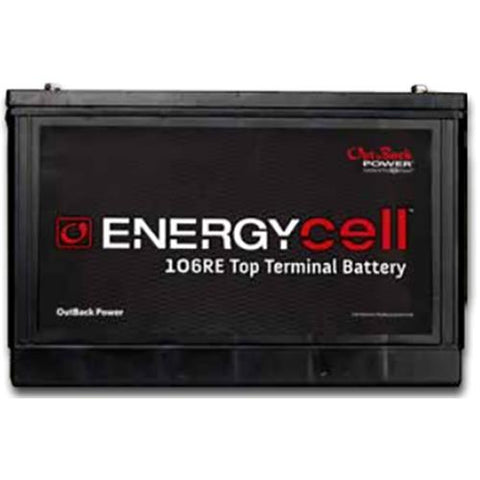 EnergyCell 106RE Top Terminal, VRLA Battery for Renewable Energy Storage - Solar Gear Supply
