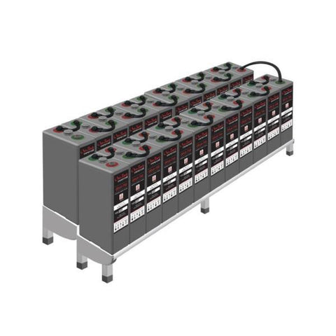 Outback 48-OPzV-750 Gel Battery System With Rack & Accessories - Solar Gear Supply