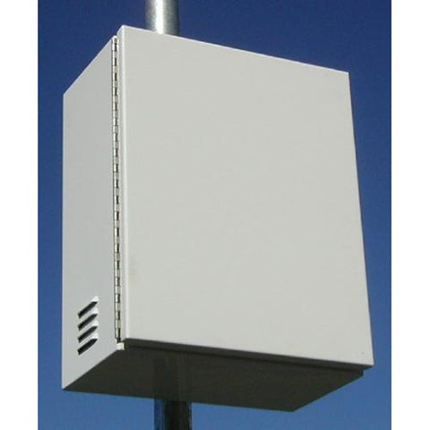 Solar Rackworks, SR-BB1-GRP30-PL, Outdoor Battery Enclosure Pole Mount - Solar Gear Supply