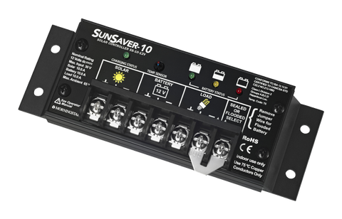 Morningstar, SS-10-12V, PWM Control, Sunsaver Charge Control 10A 12V - Solar Gear Supply