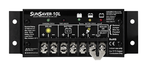 Morningstar, SS-10L-24V, PWM Control, Sunsaver Charge Control 10A 24V - Solar Gear Supply