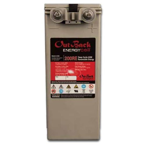 Outback EnergyCell 200RE Deep Cycle AGM 12V 200Ah Battery - Solar Gear Supply