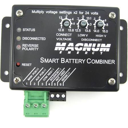 Magnum, ME-SBC, Smart Battery Combiner, 25A Combines 2 Battery Banks for Charging - Solar Gear Supply