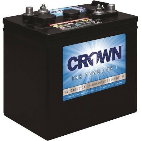 Crown 12CRV55, 55Ah 12V Deep Cycle AGM Battery - Solar Gear Supply