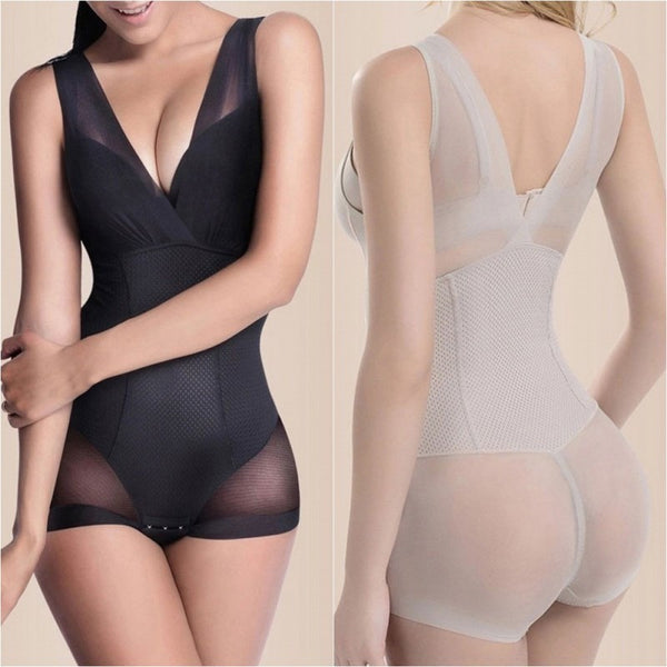 Full Body Lace Shape Wear with V-back - mydailybeautydeals