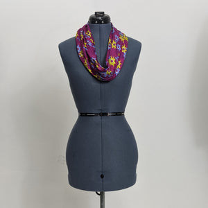 Floral Patterned Circle Silk Scarf