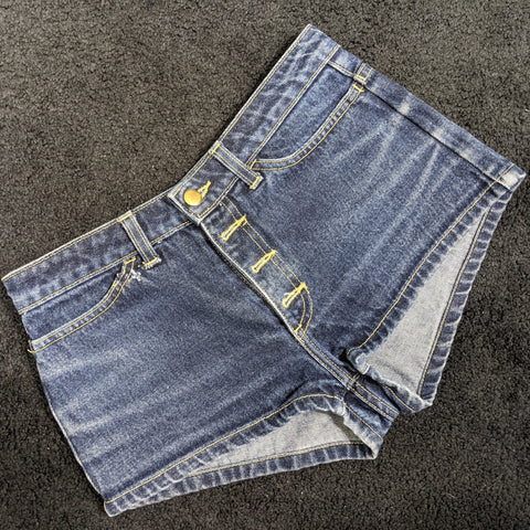 Blue Jean High-Waisted Shorts by American Apparel
