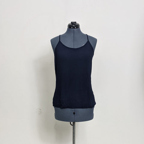 Navy Blue Stretch Tank Top