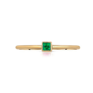 Hannah G Emerald Square Ring