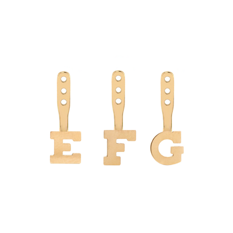 Hannah G Initial Letter Earring Jackets