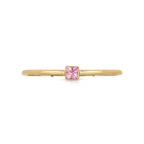 Hannah G Pink Sapphire Square Ring