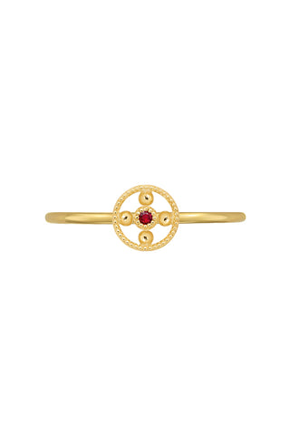 Hannah G Mini Ruby Bead Ring